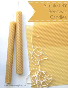 Simple DIY Beeswax Candles- unique and easy handmade gift idea!