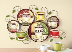 #32749 Styles Of Coffee Metal Wall Art Decor By Sensationaltreasures