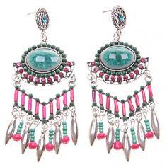 Boucles d'oreilles style ethnique pampille #bijoux #tendance #look #mode #earring #jewelry #femme #fashion #shopping www.milena-moda.com
