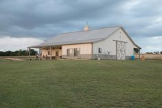 From basic to bold, Morton Buildings builds the finest pole barns, equestrian buildings, steel buildings and more. Learn about post-frame construction here Shop Buildings, Steel Buildings, Metal Shop Building, Building A House, Shop With Living Quarters, Morton Building, Barn Shop, Free House Plans, Barn Living