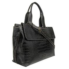 Women's Leather Laptop Work Bag Black