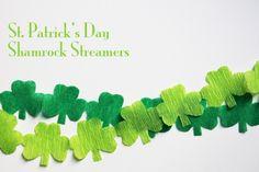 St. Patrick's Day DIY Shamrock Streamer Garland | Studio DIY®