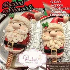 Poplace de chocolate rellena  en Navidad Christmas Cake Pops, Christmas Treats, Paletas Chocolate, Magnum Paleta, Cupcake Images, Disney Pop, Cookie Pops, Marshmallow Pops, Ice Pops