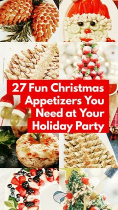 27 Fun Christmas Appetizers for Holiday Parties. #recipe #appetizer #yummy #holidaygifts #Christmas