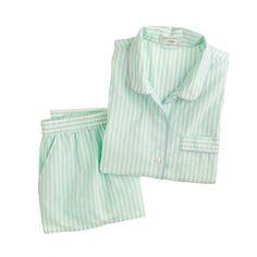 Vintage short pajama set in stripe
