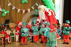 Photo about Christmas celebrations at kindergarten - children enjoy the arrival of Santa Claus. Image of people, indoor, christmas - 82981989 Celebrations, Kindergarten, Santa, Children, Christmas, Image, Toddlers, Natal, Boys