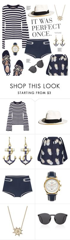 """ONE FINE DAY"" by edita1 ❤ liked on Polyvore featuring Michael Kors, Madewell, Elizabeth Scarlett, Miu Miu, Jack Mason and Illesteva"
