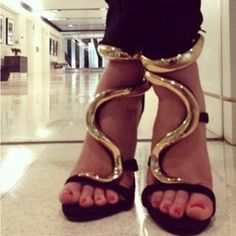 Well, I wish I owned these Guiseppe Zanotti serpent heels...