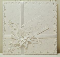 my pink Krusedull: White on white Christmas card