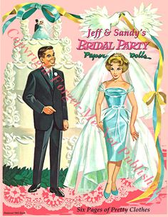 Jeff and Sandys Bridal Party Restored 1962 by JudysPaperGoods, $12.00