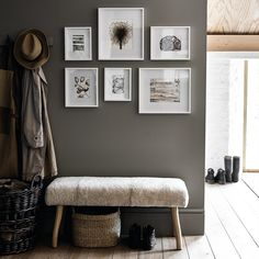 3 steps to creating a gallery wall - The White Company Journal Live Archives – Page 3 of 34 – The White Company Journal Photo Frame Layout, Small Photo Frames, Gallery Wall Layout, Frame Gallery, Photo Layouts, Bench Furniture, The White Company, Look Cool, Frames On Wall