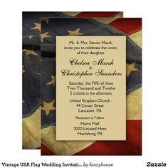 Vintage USA Flag Wed