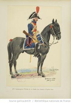 [Grenadiers-gendarmes, gendarmerie d'élite de la garde des consuls et de la garde impériale, 1793-1815 / Notes et aquarelles par E. Fort.] - 24
