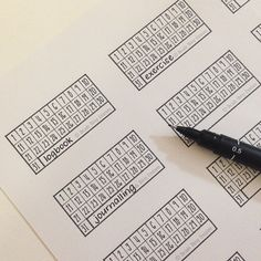 Decade Thirty Habit Tracker 10 x 4 planner printable