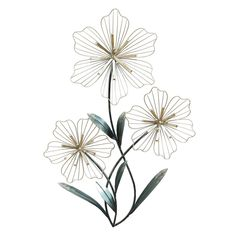 The Stratton Home Decor Tri-Flower Wall Sculpture adds graceful beauty to your walls with a lovely sculpture of three flowers with shiny silver and. Metal Flower Wall Decor, Floral Wall Art, Metal Flowers, Black Flowers, Floral Prints, Metal Wall Panel, Metal Walls, Metal Wall Art, Metal Wall Sculpture