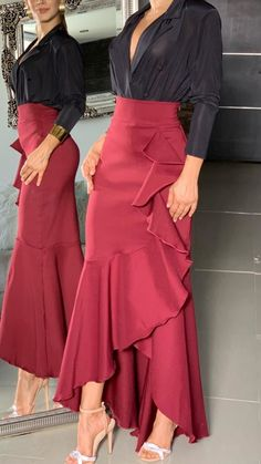 Elegant Dresses, Casual Dresses, Fashion Dresses, Skirt Outfits, Stylish Outfits, African Print Fashion, Classy Dress, African Dress, Look Fashion