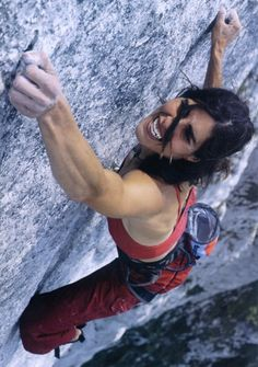 Josune Bereziartu did the 300 metre 'Yeah-man' 8b, Gastlosen, Switzerland