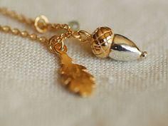 Alex Monroe / baby acorn and oak leaf necklace by Alex Monroe | petiteparis