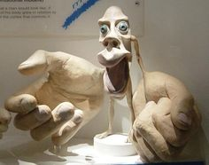 A Penfield's Homunculus is a visualization of the primary motor cortex and primary somatosensory cortex. The size of a body region on the model is based on the amount of cortex dedicated to that site, sometimes giving absurd-looking results.  This particular example represents the motor cortex. Given the dexterity of our hands and our mouths (for eating and speaking), it is no surprise that so much brain power is given to those areas. Photo credit: carmelo.dimauro via Flickr