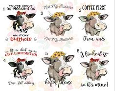 Heifer cow waterslide decals \ laser printed / laser decals / tumbler supplies \ *Waterslide Ready To Use* Heifer Cow, Custom Tumblers, Tumbler Cups, Craft Fairs, Shirt Ideas, Cricket, Decals, Silhouette, Printed
