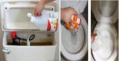Limpieza de inodoro con vinagre