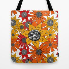 Doodle Flowers One Tote Bag