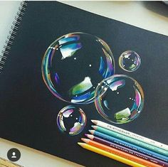 Pencil Drawing Tips bubbles Drawing Techniques, Drawing Tips, Drawing Ideas, Drawing Designs, 3d Drawings, Realistic Drawings, Colorful Drawings, Crayon Drawings, Horse Drawings