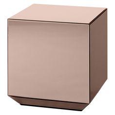 Beistelltisch Speculum / Spiegel - 38 x 38 x H 40 cm, Spiegeloberfläche, rosa von AYTM finden Sie bei Made In Design, Ihrem Online Shop für Designermöbel, Leuchten und Dekoration.