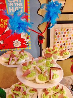 green deviled eggs and ham (maybe rowan will learn to love deviled eggs like his mom does if i do this)