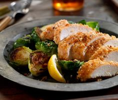 Unfried Chicken with Roasted Brussels Sprouts