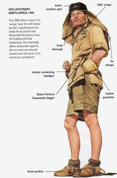 Resultado de imagen para british sas uniform north africa