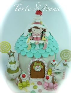 SWEET HOME FOR CHRISTMAS - by tortediivana @ CakesDecor.com - cake decorating website