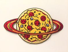 pizza planet embroidered pizza patch iron on