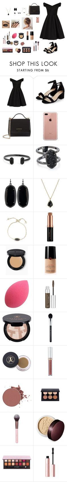 """""""orchestra banquet"""" by gabriellaallen on Polyvore featuring Chi Chi, Givenchy, Belkin, Kendra Scott, Bobbi Brown Cosmetics, Giorgio Armani, Anastasia Beverly Hills, Laura Mercier and Too Faced Cosmetics"""