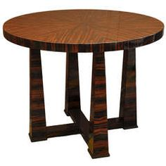 Palisander Round Art Deco Table