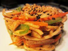POLLO TERIYAKI CON FIDEOS CHINOS Y VERDURAS - http://www.todareceta.es/r/pollo-teriyaki-con-fideos-chinos-y-verduras-11507971.html