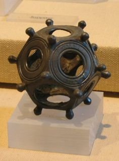 Roman Dodecahedron objects have been found all over Europe – but the mystery continues about their purpose and use. About the only thing that archaeologists have done – is name the objects. They date to around the or AD century. Ancient Aliens, Ancient Rome, Ancient History, Ufo, Objets Antiques, Rome Antique, Art Ancien, Archaeological Finds, Archaeological Discoveries