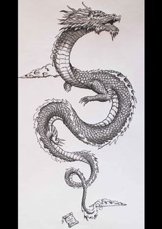 my personal interpretation of the traditional japanese dragon