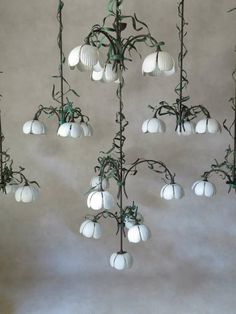 Set of 6 Very Large Lily-of-the-Valley Pendants - France, 1940s | From a unique collection of antique and modern chandeliers and pendants at 1stdibs.com