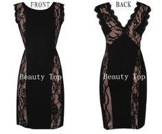 Prom Dress  Stretch knit Lace Dress  Bridesmaid Dress by BeautyTop, $119.00