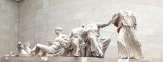 Parte del frontone del partenone dell'acropoli di Atenen, V sec a.C, marmo pentelico, attualmente conservato al British Museum di Londra