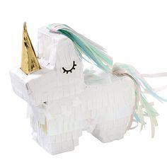 Adorable little unicorn mini pinata for a magical unicorn party