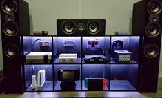 My setup won't be complete until next gen. Video Game Shelf, Video Game Storage, Home Recording Studio Equipment, Motorhome Interior, Bedroom Setup, Vintage Video Games, Video Game Rooms, Gaming Room Setup, Video X