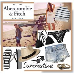 The A&F Summer Getaway Giveaway: Contest Entry by calamity-jane-always on Polyvore featuring moda and Abercrombie & Fitch