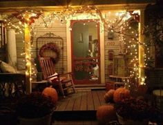 fall fromt porch ideas | Front porch decor for fall