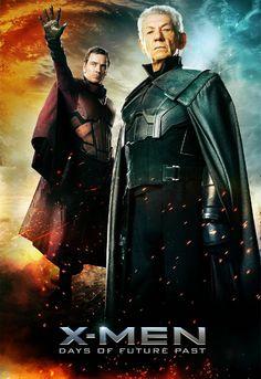 Michael Fassbender & Sir Ian McKellan on this stunning X-Men: Days of Future Past poster.  #FREEMAGNETO