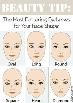 Best brows for your face shape! =)