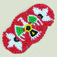 """Cute Beaded Rosette Hair Barrette, 3-1/4"""" w/ Clip These handmade imported novelty and dance outfit items are very popular articles and are the same high quality"""