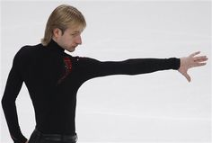Evgeni Plushenko... The best Men's Singles skater in the world and the most bad ass Russian I've ever felt like I've known.