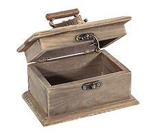 Costurero de madera DM y metal Isabella - marrón